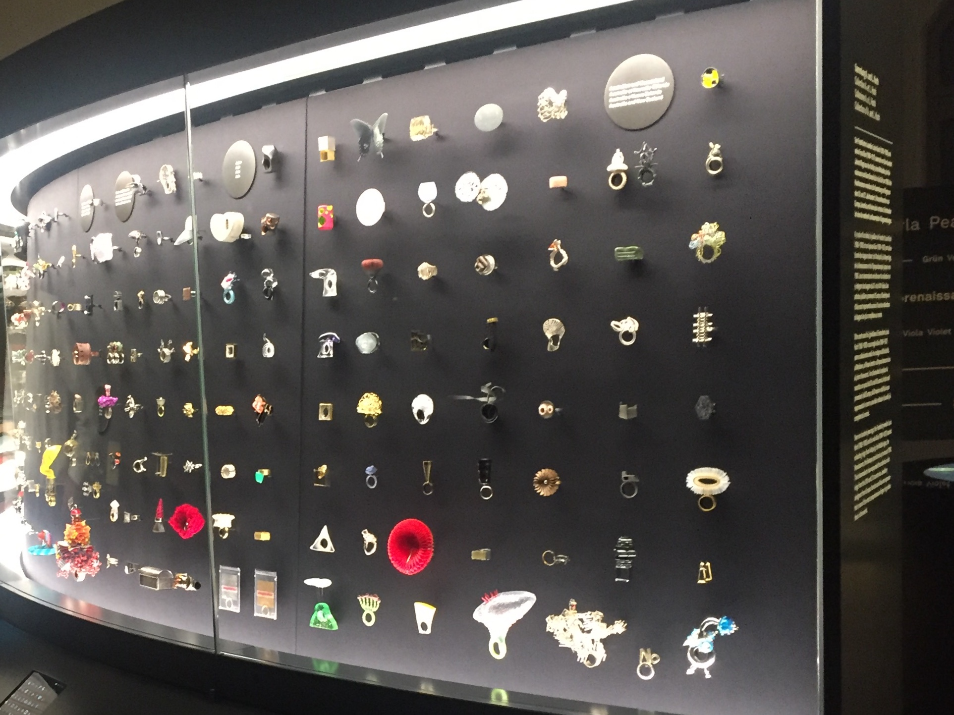 The Alice and Louis Koch Collection of Rings is housed in this fabulous display case, fashioned in the round to echo the shape of a ring.